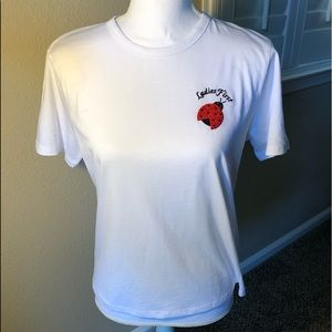 Topshop pj top with ladybug